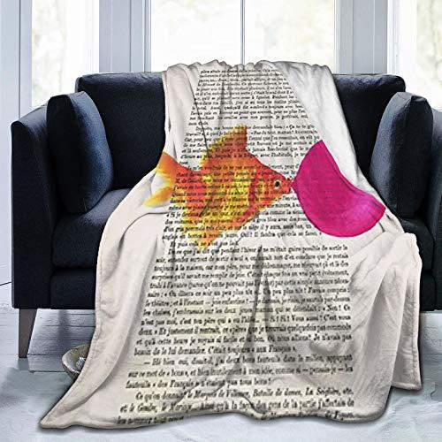 Bubble Gum Goldfisch-Decke, Wandteppich, bunt, Küche, Schlafzimmer, Flur, Wohnheim, Wohnzimmer, Schlafzimmer, hängende Bettwäsche