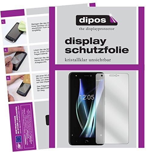 dipos I 2X Schutzfolie klar kompatibel mit BQ Aquaris X Folie Bildschirmschutzfolie