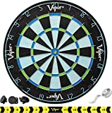 Viper Chroma Tournament Bristle Steel Tip Dartboard Set with Staple-Free Bullseye, Triangular Spider Wire for Reduced Bounce Outs, High-Grade Self-Healing Premium Sisal