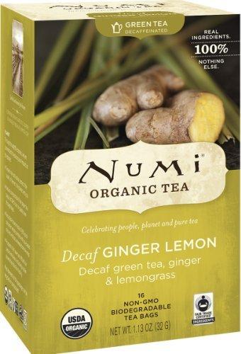 Numi Teas Numi Organic Tea Decaf Ginger Lemon Green Tea, 16 Cou