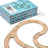 THE TWIDDLERS 64 Piezas Juego de Vías de Tren de Madera - Construir Su Propio Ferrocarril