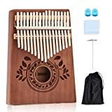 UNOKKI Kalimba Thumb Piano - Kalimba 17 Key Musical Instruments with Kalimba Song Book Instructions, Tuning Hammer & More! Thumb Piano for Kids & Adults - Easy to Learn Finger Piano (Chocolate Brown)