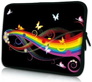 Luxburg® Design Funda blanda para ordenador portátil (15,6pulgadas, motivo: Mariposas y arco iris