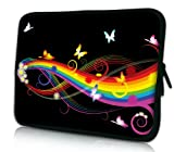 Luxburg® Design Tasche Hülle Sleeve Schutzhülle für Tablet PC 8 Zoll: Apple iPad mini (auch Retina) | Samsung Galaxy Tab 3 (8 Zoll) / Note 8.0 | Intenso TAB814 (8 Zoll) | Asus MeMO Pad 8 | Odys Titan (8 Zoll) | Lenovo IdeaPad Yoga (8 Zoll) | Acer Iconia W3 (8 Zoll) , Motiv: Schmetterlinge & Regenbogen