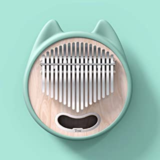 $56 » ROWEQPP Professional Kalimba 17 Keys Cartoon Thumb Piano for Performance Kids Beginner Green cat