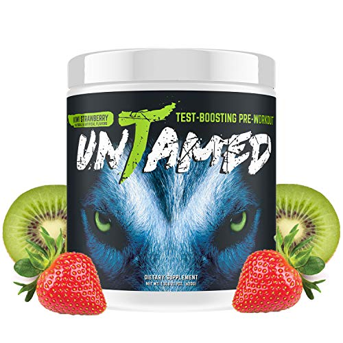 Complete Nutrition Untamed Pre-Workout, Strawberry Kiwi, Testosterone Boosting, Increase Energy, Strength, Endurance, 1.3 lb tub (40 Servings)