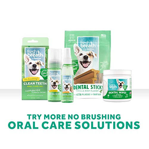 Fresh Breath by TropiClean Oral Care Kit for Pets, Large, Made in USA