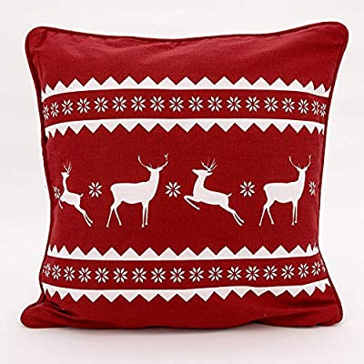 Reindeer family & Snowflake Christmas Festive Cushions Covers By Adam Linens