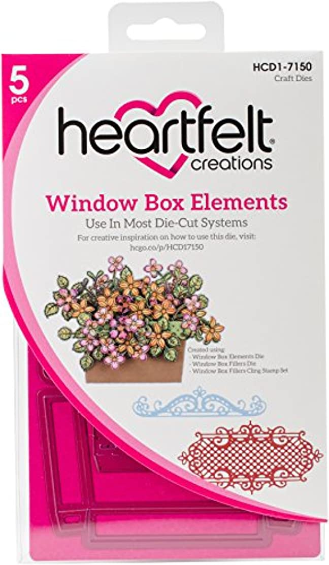 Heartfelt Creations HCD1-7150 Cut & Emboss Dies Window Box Elements