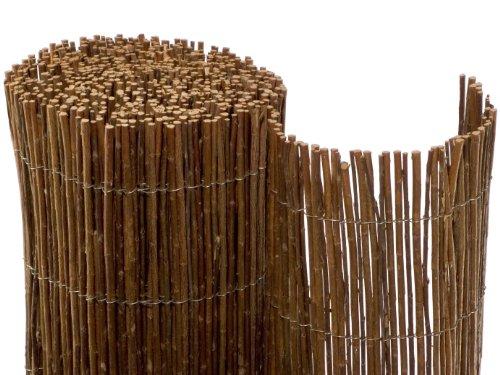 NOOR Weidenmatte Deluxe 1,50 x 3,00m I Natürliche Weiden-Sichtschutzmatte mit verwobenem, verzinktem Draht für hohe Stabilität I Terrassen- und Balkon-Windschutz