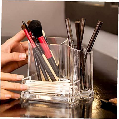 Maquillaje Transparente joyería Cepillo Caja de Almacenamiento Organizador de acrílico cosméticos Gerente de Suministros de Almacenamiento Box Office