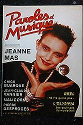 Paroles & Musique 1986 10 n° 63 Dossier JEANNE MAS BREL BUARQUE VANNIER MALICORNE DESPROGES