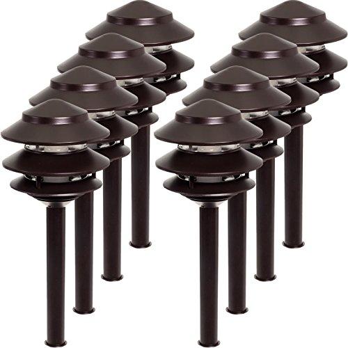 Westinghouse 8 Pack 2.4W Low Voltage LED Landscape Pathlight (Remington Bronze)