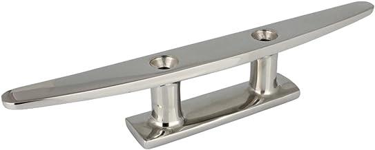 6 mm Barra de boots marr/ón de acero inoxidable A4 Conector de resorte sencillo 2 Conector//plint 5 unidades