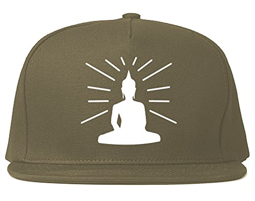 Kings Of NY Buddha Snapback Hat Cap Grey