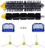 Kit de accesorios para aspirador Roomba serie 600 605 610 615 616 620 625 630 631 632 639 650 651 660 670 680 681, cepillos de repuesto y filtros de repuesto con tornillos