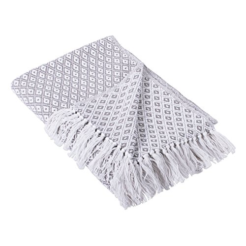 DII Gray Mini Diamond Throw,