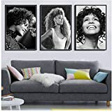 ASLKUYT Schwarz Weiß Whitney Houston Popstar Sänger Frau