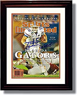 Framed Tim Tebow 2008 National Champs Sports Illustrated Autograph Replica Print - Florida Gators - National Champs!
