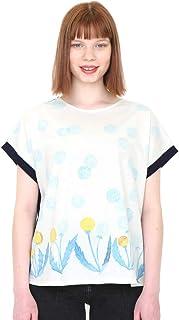 (グラニフ) graniph バックボタン Tシャツ (ダンデライオンフィールド) (ネイビー) レディース (g14)