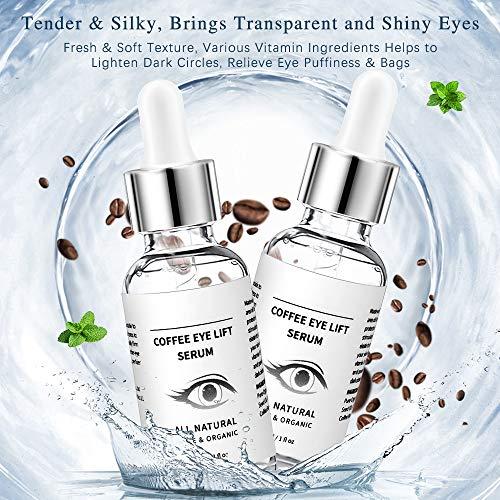 513+Ua0qBUL - Under Eye Serum - Eye Serum for Dark Circle, Eye Puffiness, Eye Bag Treatment, Anti Aging/Wrinkle Eye Moisturizer with Hyaluronic Acid, Glycerin & Caffeine Eyes Serum for Men or Women