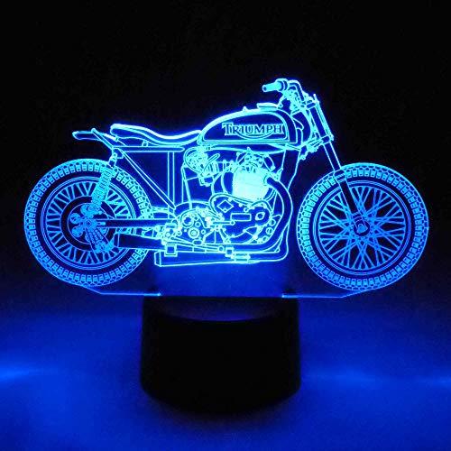 LED Lampe Triumph Motorrad Biker Farbwechsel 3D Tischleuchte Tischlampe Show-Effekt Clubhaus