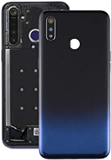 Oppo Spare Parts Battery Back Cover for OPPO Realme 3 (Color : Black Blue)