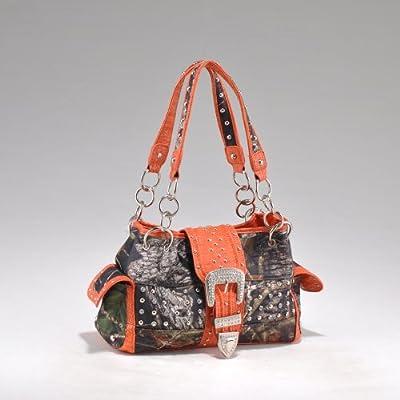Mossy Oak Licensed Orange Western Camouflage Shoulder Bag