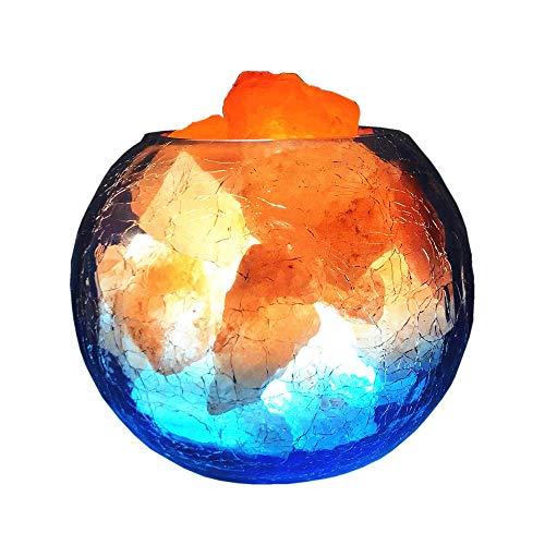 KX&VV SalzLampe Salz Lampe Natürliches Himalaya Nachtlicht Salzlicht Gesundheit Studie Tisch Schreibtisch Licht Dimmable Nacht Künstlerische Dekoration Geschenk Blau, Größe: 15 * 15 * 12 CM