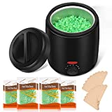 FESNNE Waxing Kit, Wax Warmer for Hair Removal with 4 Pack Aloe Hard...