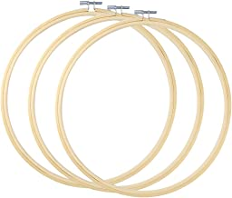 Caydo3 Pack 12 Inch Wood Embroidery Hoop Circle Cross Stitch Hoop Ring for Art Craft Handy Sewing