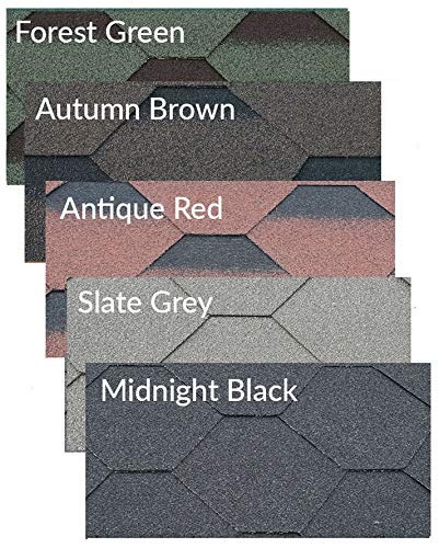 Felt Shingles Midnight Black Hexagonal 3 Tab Shed Roofing Tiles with Adhesive
