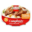 HORMEL COMPLEATS Roast Beef & Mashed Potatoes with Gravy Microwave Tray, 9 Ounces (Pack of 6)