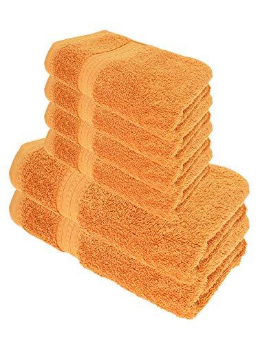 Julie Julsen Juego de toallas de ducha (6 piezas, 2 toallas de ducha, 4 toallas de mano, 100% algodón, 550 g/m²)
