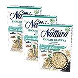 Nattura Copos de avena de grano entero Sin gluten Rico en fibra con betaglucanos Fuente de proteína Vegano OK - 3 x 350 gramos