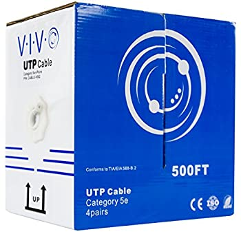 VIVO 500 ft Bulk Cat5e Ethernet Cable CABLE-V002 Wire UTP Pull Box Grey