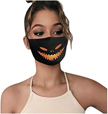 StyleV 1PC Novelty Face Cover Reusable-Unisex Funny Washable Breathable Halloween Cosplay Costume Neck Gaiter Men