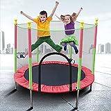 Fitness Trampoline 3-12 Years Child Trampoline, 5 FT Kids Trampoline with Enclosure Net