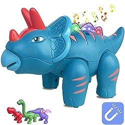 5. QUQUMA Touch Recording Talking Triceratops Dinosaur Toy
