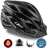 Kinglead自転車ヘルメット(風)超軽量サイクリングヘルメット 22通気穴大人用ヘルメット LEDライト付き 調節可能 内装やバイザー取り出す可能なロードヘルメット