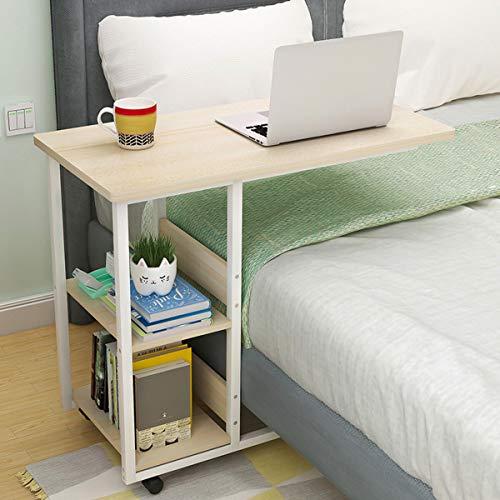 Escritorio multifuncional de la computadora portátil Movible Escritorio de la caja del escritorio del escritorio del escritorio del escritorio del escritorio de la computadora con 2 estantes de almace