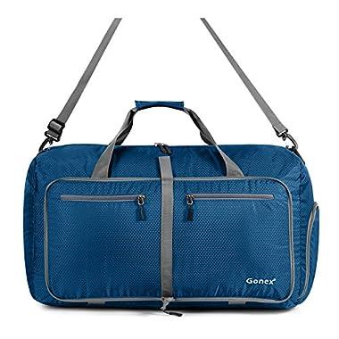 Gonex 60L Foldable Travel Duffel Bag Water & Tear Resistant, Deep Blue
