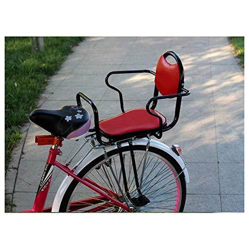 SBDLXY Seggiolino Posteriore Sicuro per Bicicletta per Bambini, seggiolino per Bambini a smontaggio rapido con Doppio bracciolo, età 3-8