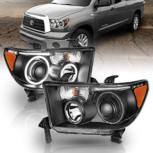 AmeriLite Black Projector Headlights CCFL Halo for Toyota Tundra/Sequoia - Passenger and Driver Side