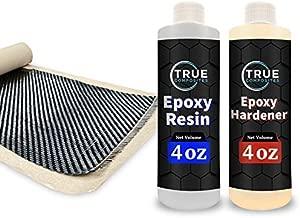 TRUE COMPOSITES Carbon Fiber Sheet & Epoxy Resin Kit (36