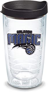 Tervis NBA Orlando Magic Primary Logo Tumbler with Emblem and Black Lid 16oz, Clear