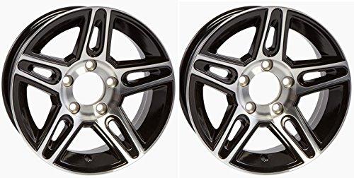 2-Pack Aluminum Trailer Rims Wheels 5 Lug 14 in. Pinnacle Black Style