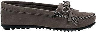 [ミネトンカ] KILTY SUEDE MOC HARDSOLE モカシン キルティ スエード ハードソール ユニセックス GREY(401T) US6(約22.5-23.0cm) (並行輸入品)