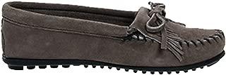 [ミネトンカ] KILTY SUEDE MOC HARDSOLE モカシン キルティ スエード ハードソール ユニセックス GREY(401T) US6(約22.5-23.0cm) (並行輸入品) [並行輸入品]