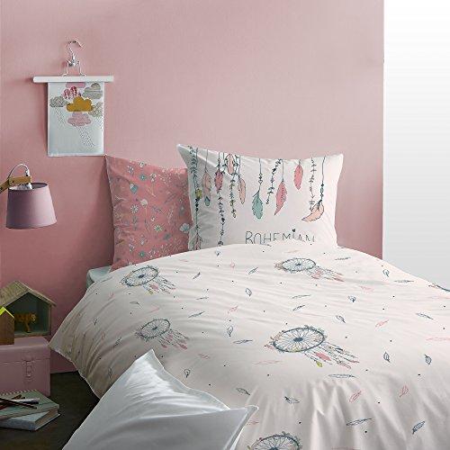 Matt&Rose Bohemian Parure de lit Enfant, 100% Coton, Rose, 140X200 Cm + 63X63 Cm